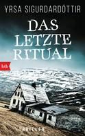 Yrsa Sigurdardóttir: Das letzte Ritual ★★★★