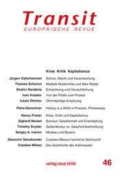 Transit 46. Europäische Revue - Krise Kritik Kapitalismus