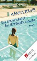 Markus Berges: Ein langer Brief an September Nowak ★