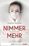 Sophie Hannah: Nimmermehr ★★★★