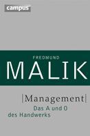 Fredmund Malik: Management ★★★★