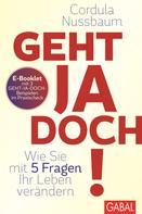 Cordula Nussbaum: Praxis-Check Geht ja doch! ★★★