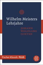 Wilhelm Meisters Lehrjahre - Roman