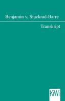 Benjamin Stuckrad-Barre: Transkript