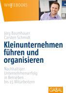 Carsten Schmidt: Kleinunternehmen führen und organisieren